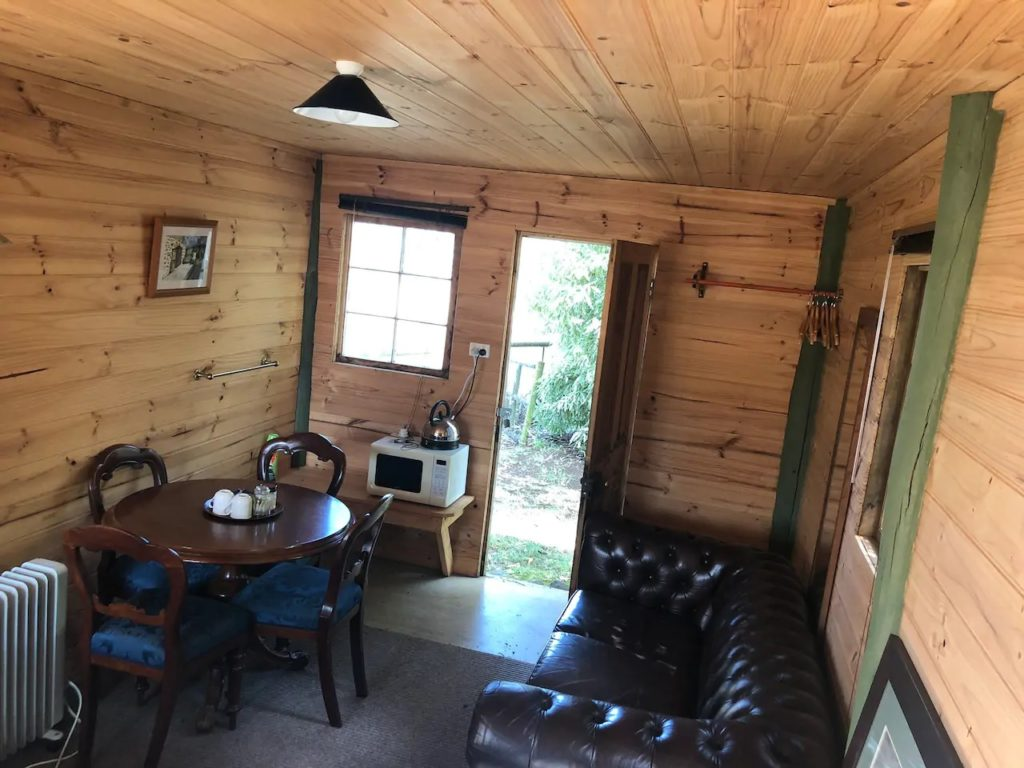Inside Cabin looking out door